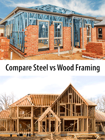 Compare 2020 Average Steel Vs Wood House Framing Costs Pros Versus Cons Of Steel And Wood House Framing Price Comparison