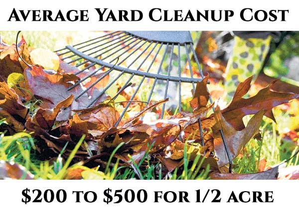 Average Cost To Hire A Yard Cleanup