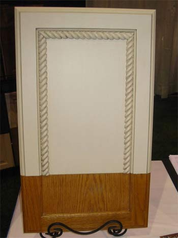 Builder Grade to Custom Cabinet with Glaze and Rope