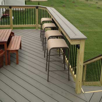... Recycled Materials And Do The Installation Yourself, You Might Spend  Less Than $100 On The Project. If You Hire A Deck Building Company To  Install A Bar ...