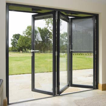 Accordion Style Folding Patio Glass Door Costs 2021 Benefits Prices Of Installing An Exterior Bifold Patio Door