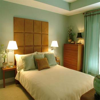 Feng Shui Bedroom Green and Brown Colors