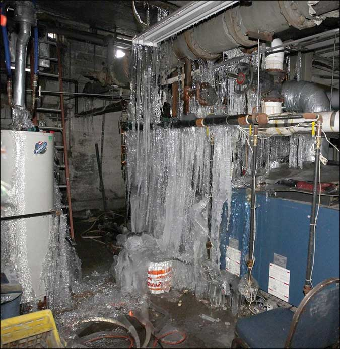 How To Keep A Basement Warm: 9 Disasterous Frozen And Burst Pipe Damage Pics