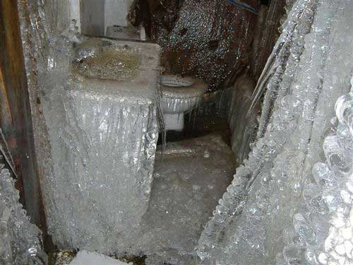 Disasterous frozen and burst pipe damage pics a guide