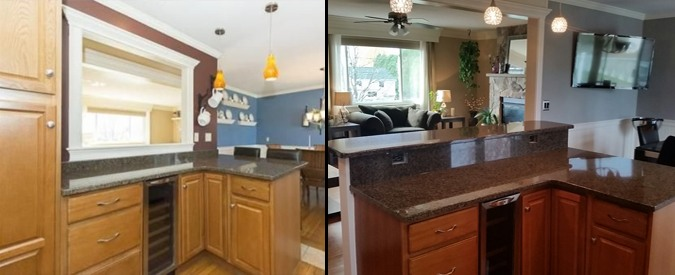 Nice Before And After Add Bar Top