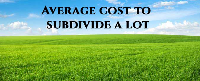 Subdivide a Property