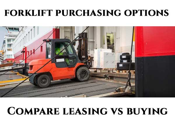Average Lease vs Purchase Forklift Prices