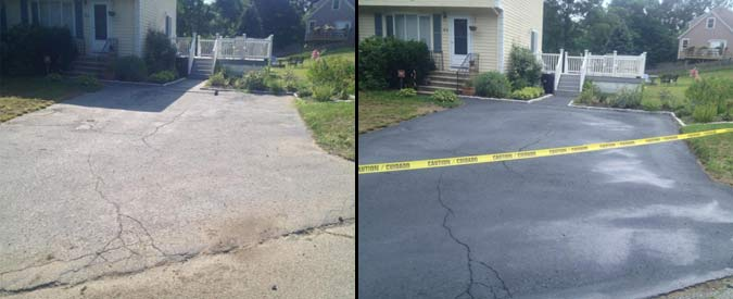 Driveway Sealing Pictures Before and After