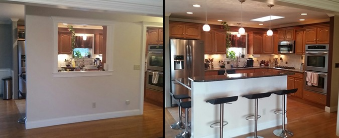 Before and After Open Up Kitchen