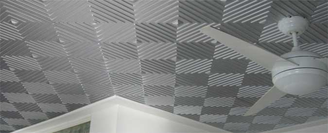 Update Your Boring Ceiling With Metal Ceiling Tiles Using